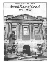front cover of BMA Annual Report of Council 1987-1988