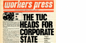 part of a front page from Workers Press newspaper