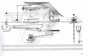 An example of Cardew's visual representation of his music